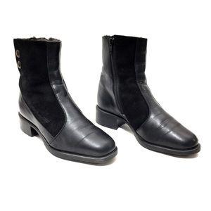 Pertti Palmroth Black Leather & Shearling Boots